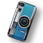 Retro Teal Camera iPhone Ha..
