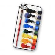 Oil Paint Set Hard iPhone Case, Fits iPhone 4 and iPhone 4S - Black Trim