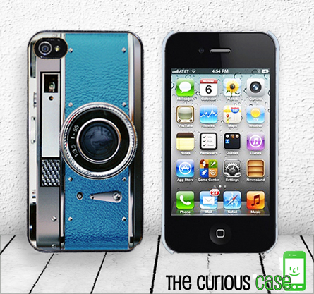 Retro Teal Camera iPhone Hard Case - Fits iPhone 4 and iPhone 4S