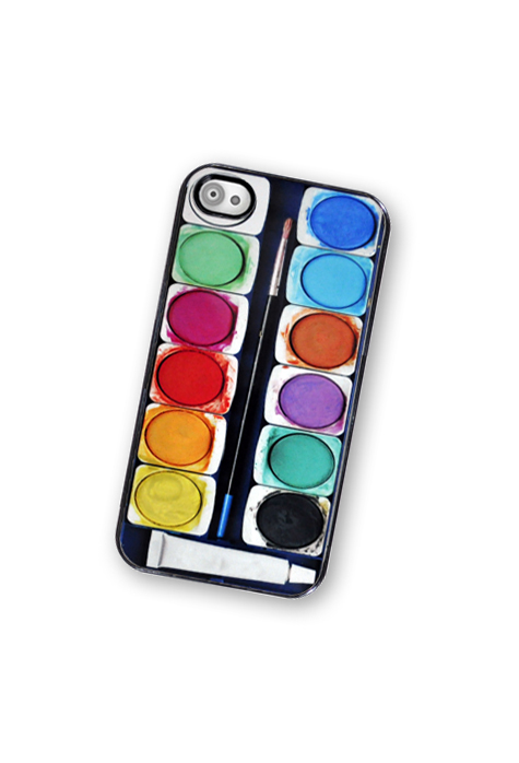 Watercolor Paint iPhone Hard Case, Fits iPhone 4 and iPhone 4S - Black Trim