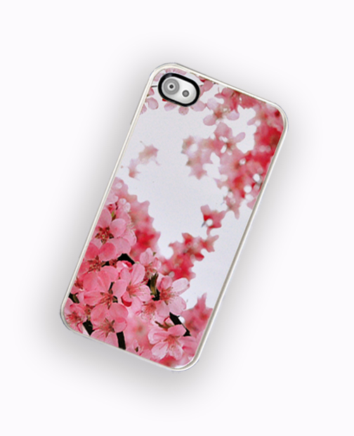 Japanese Cherry Blossom iPhone Hard Case, Fits iPhone 4 and iPhone 4S - White Trim