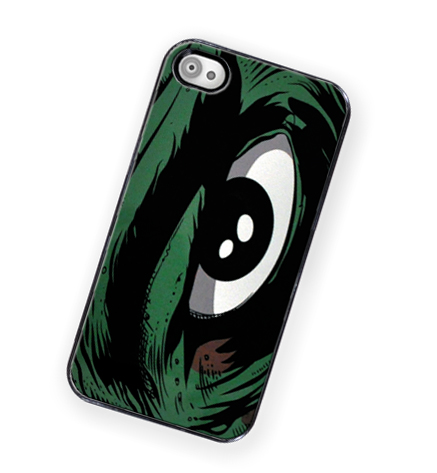 Monster Comic Book Eye iPhone Hard Case - Fits iPhone 4 and iPhone 4S - Black Trim