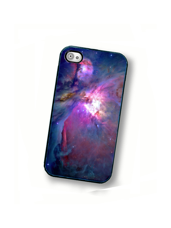 Orion Nebula iPhone Hard Case - Fits iPhone 4 and iPhone 4S - Black Trim