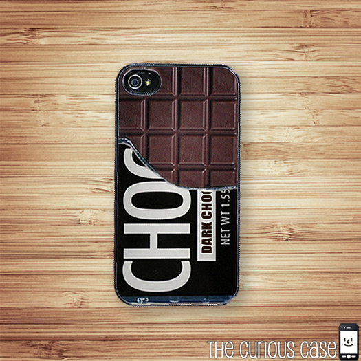 Chocolate Bar, Candy Case iPhone Hard Case, Fits iPhone 4 and iPhone 4S - Black Trim