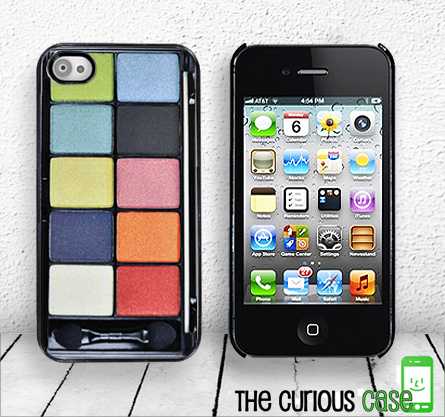 Eyeshadow iPhone Hard case fits iPhone 4 and iPhone 4S - Black Trim Makeup Photo Case