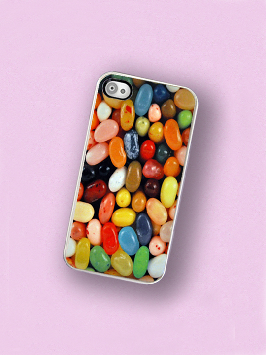 Jellybean iPhone Hard Case, fits iPhone 4 and iPhone 4s - White Trim