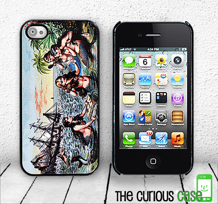 Mermaid Pirate Ship iPhone Hard Case, fits iPhone 4 and iPhone 4S